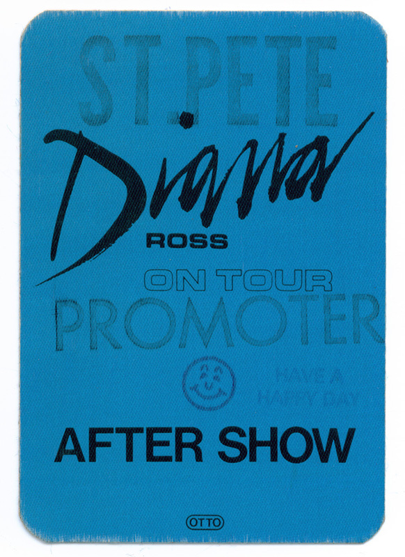 Diana Ross Locaized Stage Pass